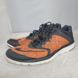 NIke FS Lite Run 3 Running Shoes Orange Size 12